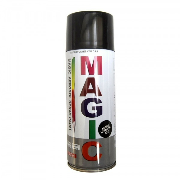 Spray Vopsea Magic Negru Metalizat 676 400ML