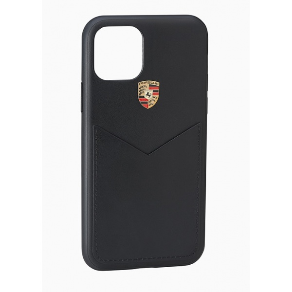 Husa Telefon Oe Porsche  Iphone 11 Max Negru Piele  WAP0300060L002