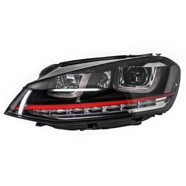 Far Stanga Am Volkswagen Golf 7 2012→ 3D LED R20 GTI Design HLVWG7GTILED