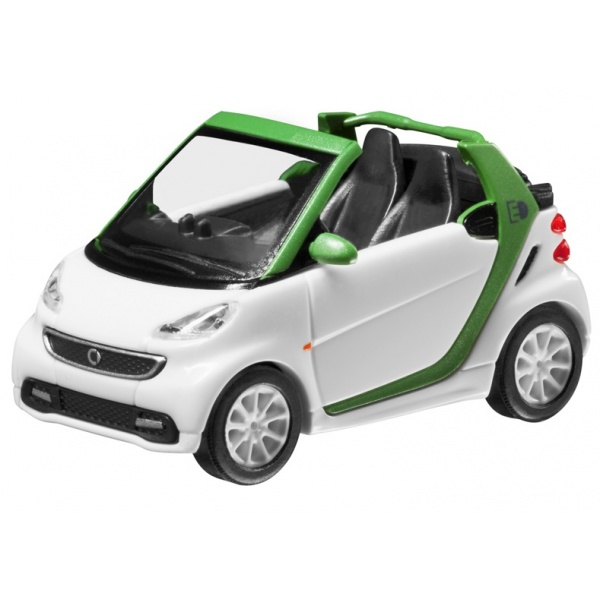Macheta Oe Smart Fortwo Decapotabil Electric Alb / Verde 1:87 B66960178