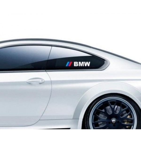 Sticker Geam Bmw Alb Set 2 Buc