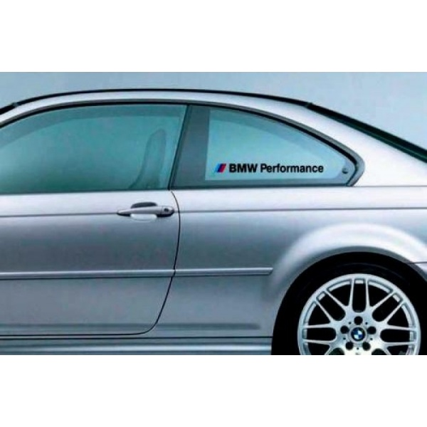Sticker Geam Bmw Performance Alb Set 2 Buc