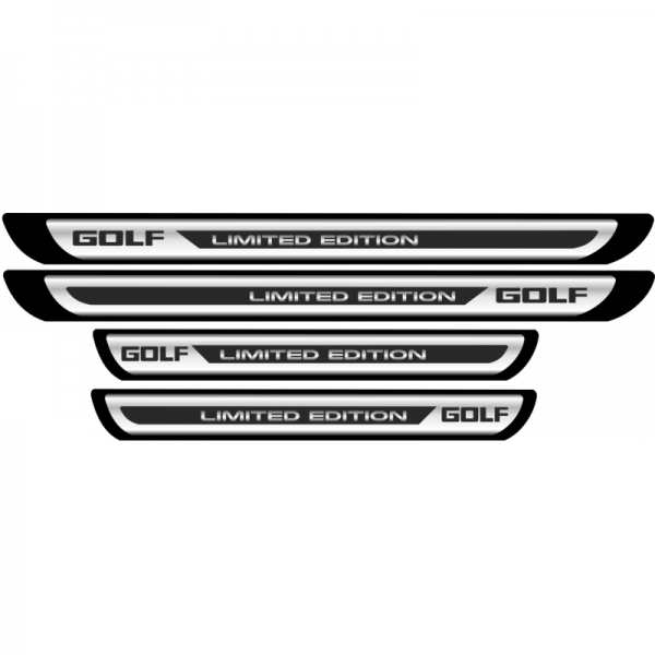 Set Protectie Praguri Sticker Crom Volkswagen Golf