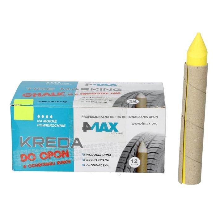 Marker Creion Anvelope 4Max 12 Buc Galben + Protectie 4806-55-0406Z