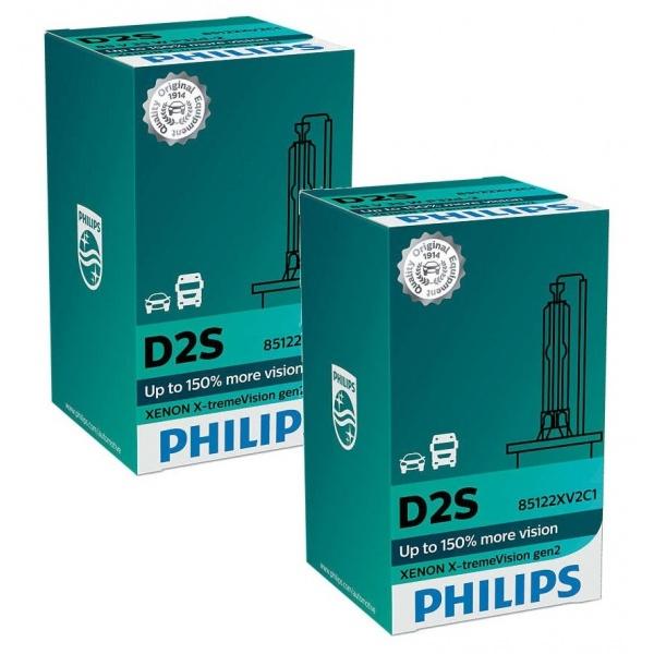 Set 2 Buc Bec Xenon Philips D2S 35W 85V P32d-2 X-TremeVision 85122XV2C1