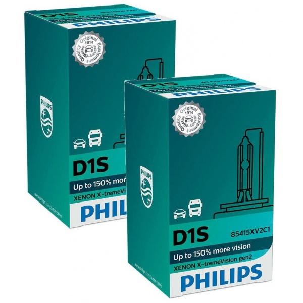 Set 2 Buc Bec Xenon Philips D1S 35W 85V Pk32d-2 WhiteVision Gen2 85415XV2C1