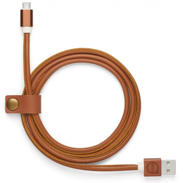 Cablu Incarcator Android Micro Usb Oe Volvo Piele Coniac 30673730