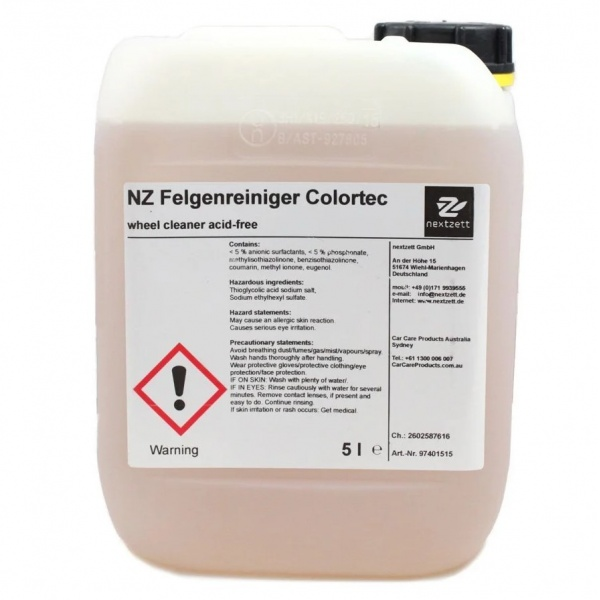 Solutie Curatare Jante Nextzett Colortec 5L 97401515