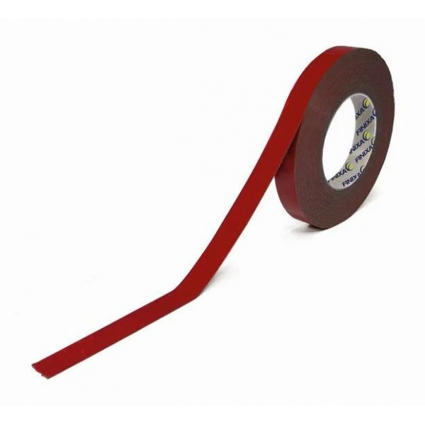 Banda Dublu Adeziva Finixa Double Sided Tape Red 12MM x 10M CCE-DZB 12