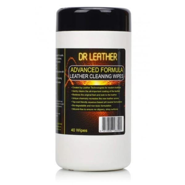 Dr Leather Wipes - Set 40 Servetele Curatare Piele DRL-40WPS