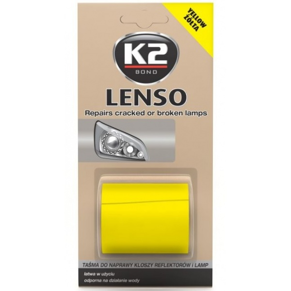 K2 Banda Reparat Lampi Auto Lenso Galben B341