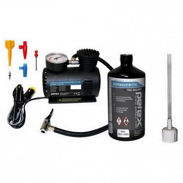 Petex Kit Reparat Pana Compresor + Solutie Etansare 445100PX