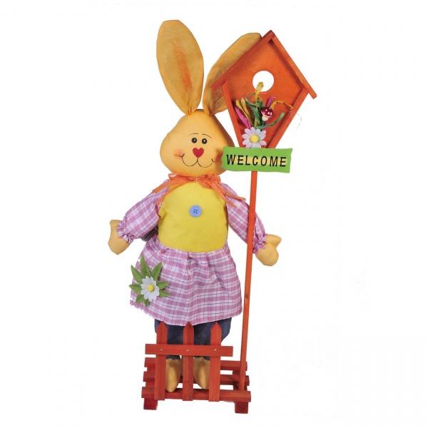 Figurina Decorativa De Paste Iepuras Welcome 60CM 1075639