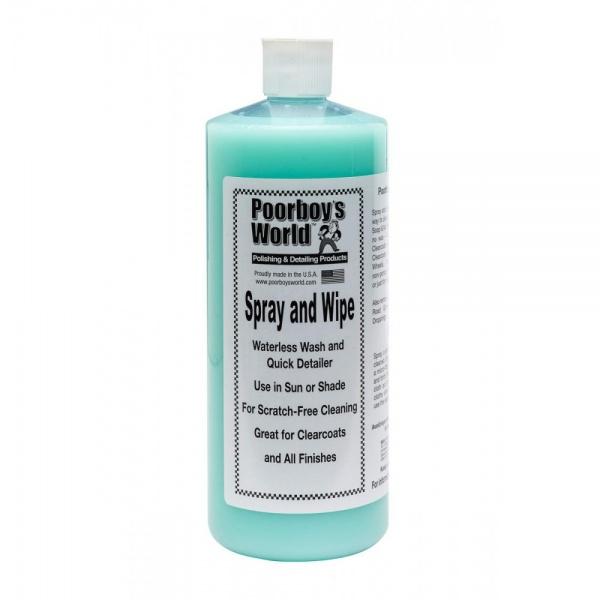 Solutie Detaling Rapid Poorboy's World Spray & Wipe Waterless 946ML PB-SAW-32