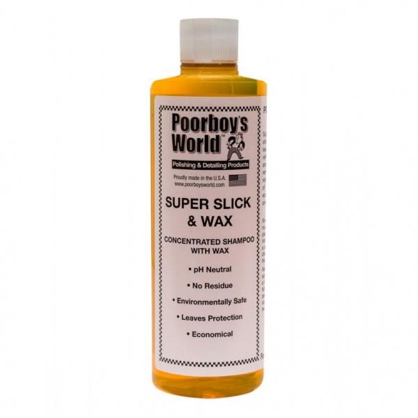 Sampon Auto Poorboy's World Super Slick & Wax 473ML PB-SSAW-16