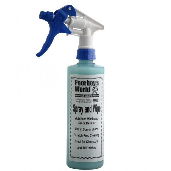 Solutie Detailing Rapid Poorboy's World Spray & Wipe Waterless 473ML PB-SAW-16