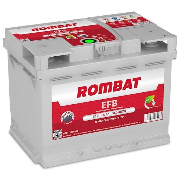 Baterie Rombat Efb Start-Stop 60Ah 560A 5601120056ROM