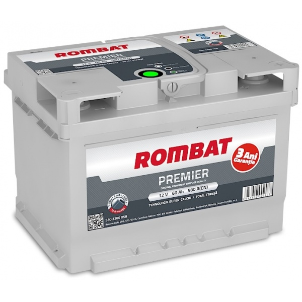 Baterie Rombat Premier 60Ah 580A 5602380058ROM