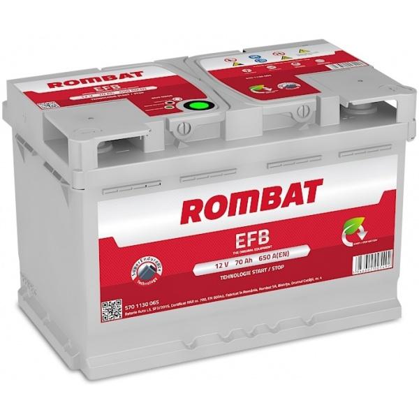 Baterie Rombat Efb Start-Stop 70Ah 650A 5701130065ROM