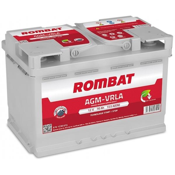 Baterie Rombat Agm-Vrla Start-Stop 70Ah 720A 5701230076ROM