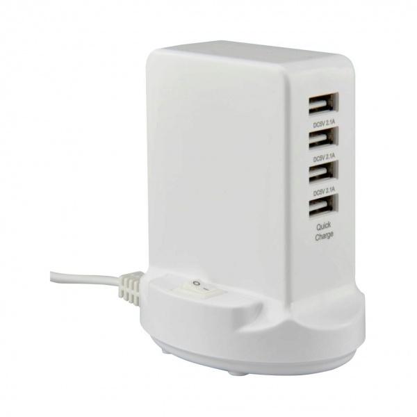 Statie De Incarcare Rapida USB Unitec 4 Porturi 1M 242002