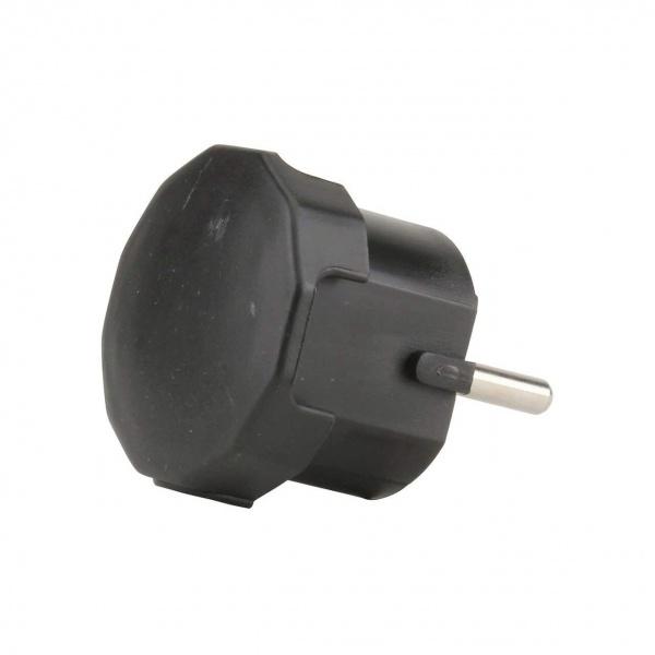Stecker Cu Impamantare Intrare Laterala A Cablului Negru Unitec 40543L