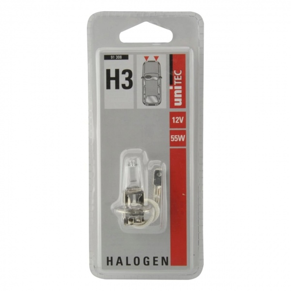 Bec Auto Halogen Pentru Far H3 55W 12V Unitec 91308