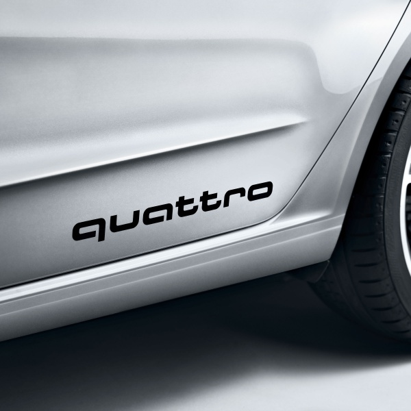 Set Stickere Quattro Oe Audi Brilliant Black Negru 4G0064317Y9B
