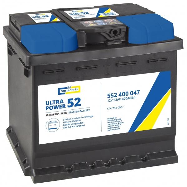 Baterie Cartechnic Ultra Power 52Ah 470A 12V CART552400047