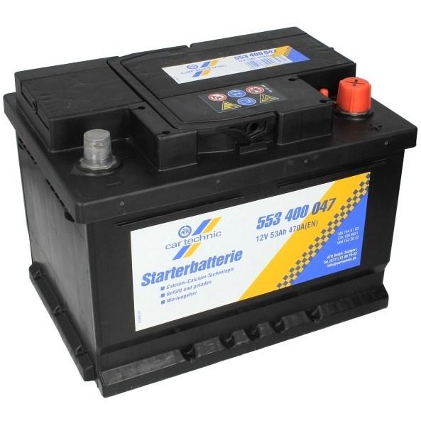 Baterie Cartechnic Standard 53Ah 470A 12V CART553400047