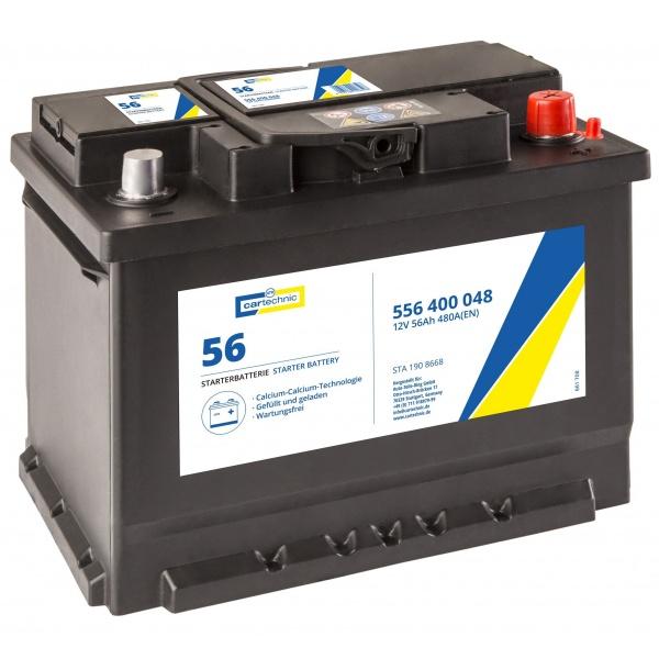 Baterie Cartechnic Standard 56Ah 480A 12V CART556400048