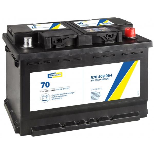 Baterie Cartechnic Standard 70Ah 640A 12V CART570409064