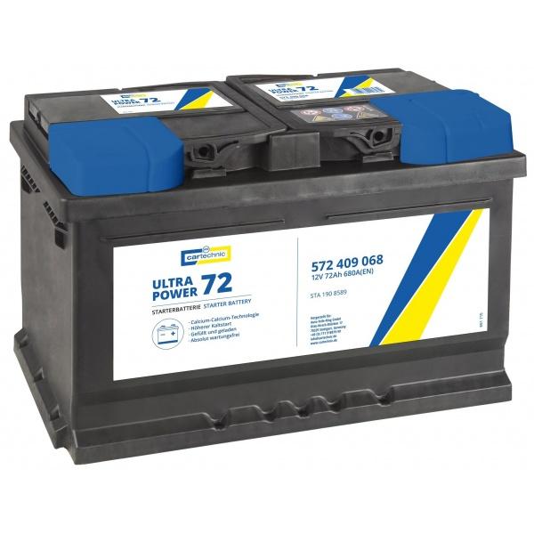 Baterie Cartechnic Ultra Power 72Ah 680A 12V CART572409068