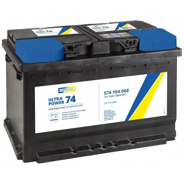 Baterie Cartechnic Ultra Power 74Ah 680A 12V CART574104068
