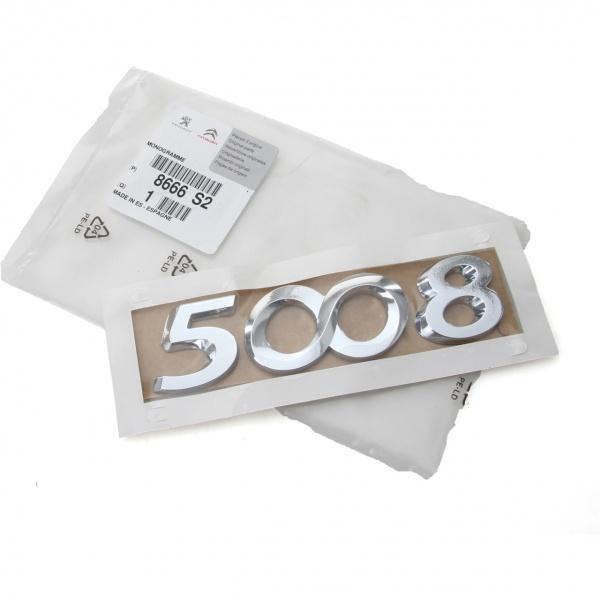 Emblema Spate 5008 Oe Peugeot 5008 2009→ 8666S2