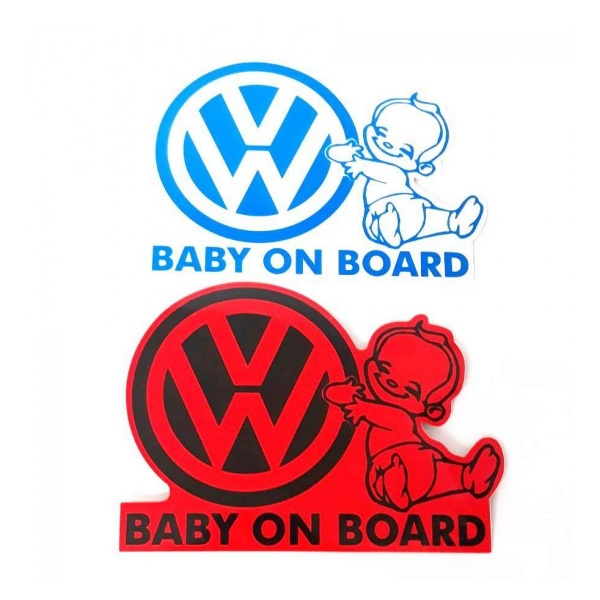 Abtibild Baby On Board Volkswagen AD 002