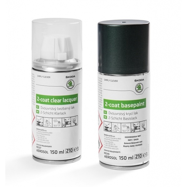 Set Spray Vopsea + Lac Oe Skoda Green Emerald G6Y/2A2A 000050200AG6Y