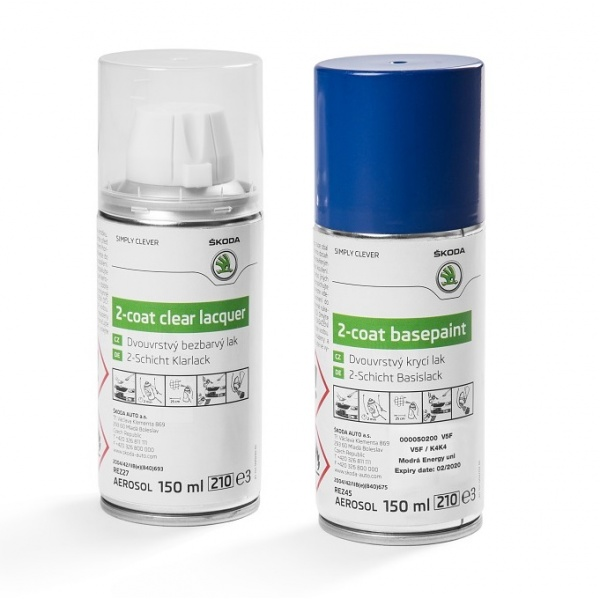 Set Spray Vopsea + Lac Oe Skoda Blue Energy V5F/K4K4 000050200V5F