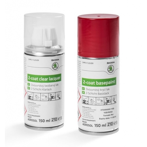 Set Spray Vopsea + Lac Oe Skoda Red Tornado Y3D/G2G2 3T0050200Y3D
