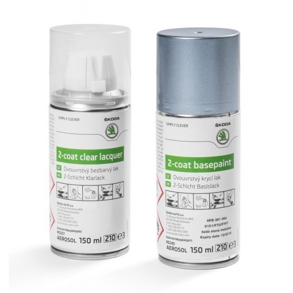 Set Spray Vopsea + Lac Oe Skoda Grey Stone Metallica 9151/F7F7/F7U HFB381064