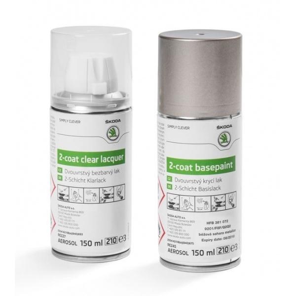 Set Spray Vopsea + Lac Oe Skoda Beige Sahara F8F/Q2Q2 HFB381072