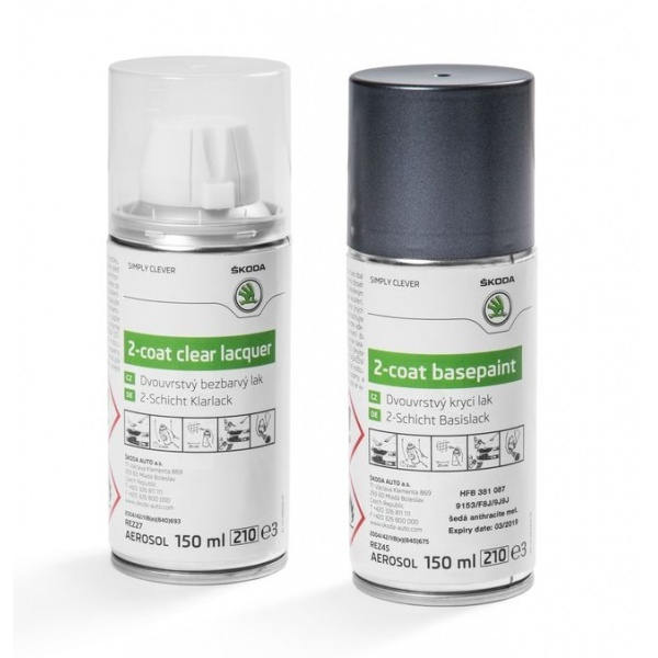 Set Spray Vopsea + Lac Oe Skoda Grey Anthracite Metallica 9153/F8J/9J9J HFB381087
