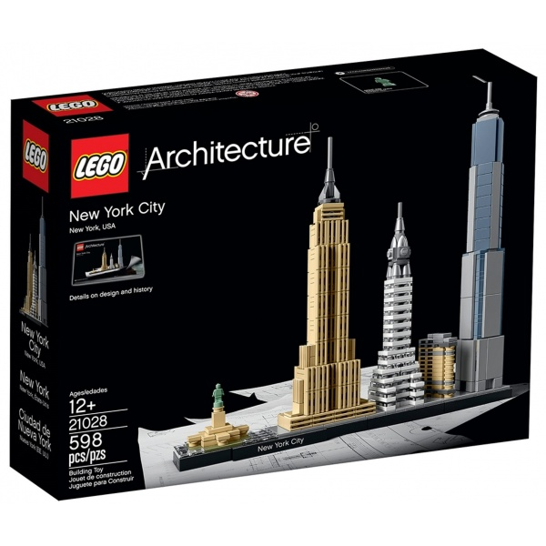 Lego Architecture New York 12 Ani+ 598 Piese 21028