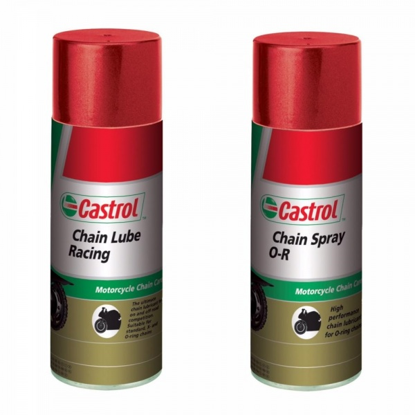 Pachet 2 Buc Castrol Spray Ungere Lant Moto Chain Lube Racing 400ML