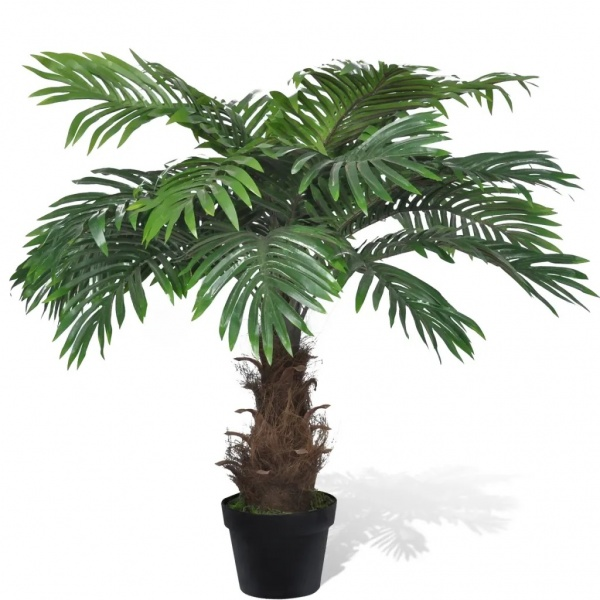 Palmier Cycas Artificial Cu Aspect Natural Si Ghiveci 80 cm 241354