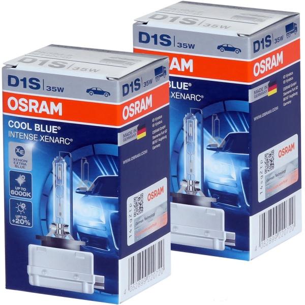 Set 2 Buc Bec Osram Xenon D1S Cool Blue Intense Xenarc 66140CBI