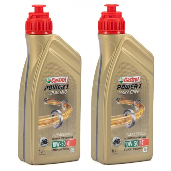 Set 2 Buc Ulei motor Castrol Power 1 Racing 10W-50 4T 1L