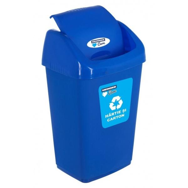 Cos Gunoi Pentru Reciclare Selectiva Cu Capac Batant Heinner 50L Albastru 31522708
