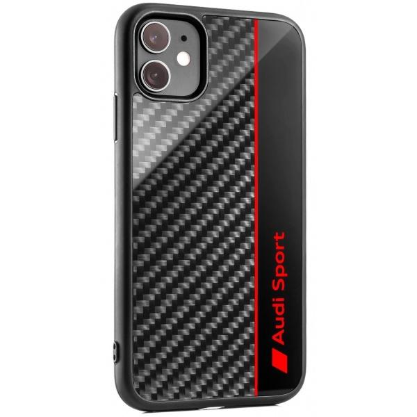 Husa Telefon iPhone 11 Oe Audi Sport Negru / Gri / Rosu 3222000300