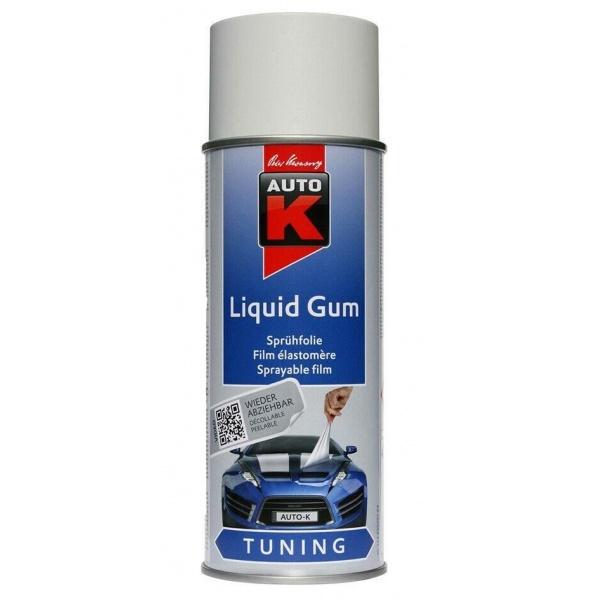 Spray Vopsea Cauciucata Auto-K Liquid Gum Detasabila Alb 400ML 999CH3907